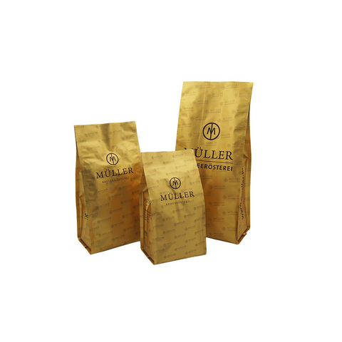 Coffee & tea packaging bag/flat bottom bag/kraft paper